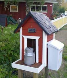 Postilaatikko Diy And Crafts, Shed, Home And Garden, Farmhouse, Woodworking, Cottage, Construction, Outdoor Structures, Pergola
