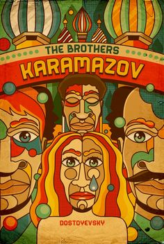 dostoyevski book covers | The Brothers Karamazov by Fyodor Dostoevsky, cover by Roberlan Borges