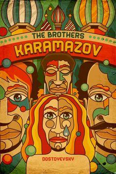 dostoyevski book covers | The Brothers Karamazov by Fyodor Dostoevsky, cover by Roberlan Borges