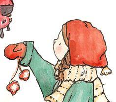 prints Christmas Drawing, Christmas Print, Little Darlings, Nursery Art, Vintage Prints, Red Green, Scooby Doo, Winnie The Pooh, Cute Animals