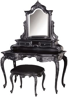 French Moulin Noir dressing table
