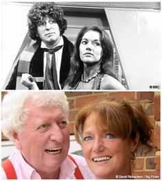 justicepirate:  Tom Baker (4th Doctor) & Louise Jameson (Leela) Then & Now. photos from Louise Jameson's blog