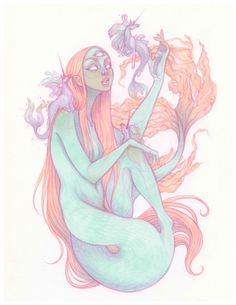 """Naiad"" Print - M · AudraAuclair · Online Store Powered by Storenvy"