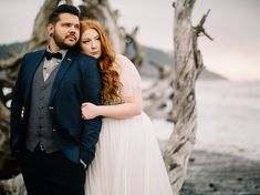 navy suit for La Push Beach Elopement on the Washington Coast featured on @GreenWeddingShoes by ©ryanflynnphoto www.ryanflynnphotography.net