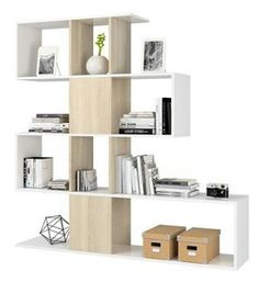 KIT LIBRERIA \'ZIG-ZAG\' DESIGN CM.145X145X29 BIANCO ROVERE: Amazon.it ...