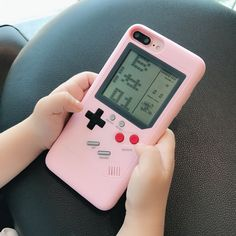 Pink Gameboy iPhone Case - 10 games included! – NotebookTherapy Iphone 7 Plus, Iphone 8, Coque Iphone 6, Game Boy, Gameboy Games, Nintendo Games, Apple Iphone 6, Gameboy Iphone, Flip Phones