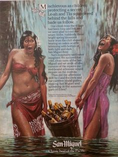 San Miguel Bier, Old Advertisements, Ads, Philippines Culture, Beer Poster, Miguel Angel, Island Beach, Advertising Poster, Pinoy