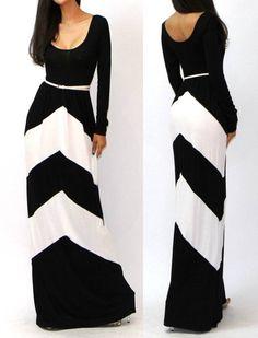 Chevron maxi dress.  Super cute.  Wish it had a damn link to find it!!!!!'  Ugh!!