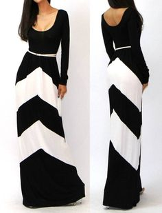 Chevron maxi dress.  Super cute.  Wish it had a damn link to find it!!!!!'  Ugh!!