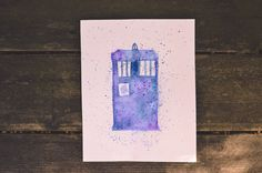 A personal favorite from my Etsy shop https://www.etsy.com/listing/231767466/tardis-watercolor