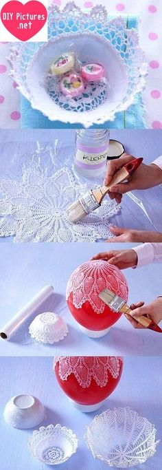 DIY Lacy Napkin Charming Vase DIY Projects I have an idea for you today like always. But this time, may be you little compelling it. But when it finish, will be so great accessory. You will must fo…