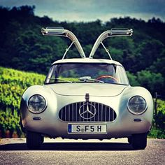 1952 Mercedes-Benz 300SL W194 00002: The most important postwar ‪#‎Benz‬ of them all. Learn how the gullwing doors came to be