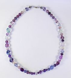 Rainbow Fluorite Necklace by PaulasOriginalDesign on Etsy