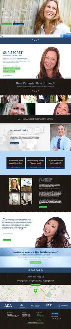 Responsive dental website design by Roadside Dental Marketing #dental #website #design #responsive