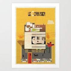 le+corbusier+Art+Print+by+federico+babina+-+$24.96