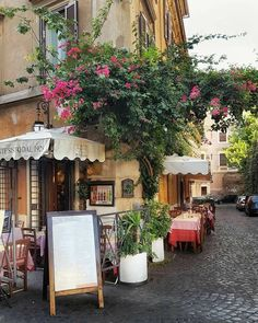 A cafe in Rome, Italy  Photography by: unequal_vision on Instagram