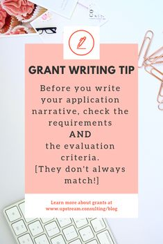 Sometimes the grant application requirements and evaluation criteria don't match. Make sure you check both so you cover everything the funder is looking for. Click through to learn more about grant writing. Business Writing, Writing Jobs, Start Up Business, Nonprofit Fundraising, Fundraising Ideas, Grant Application, Grant Proposal, Grant Writing, Bettering Myself