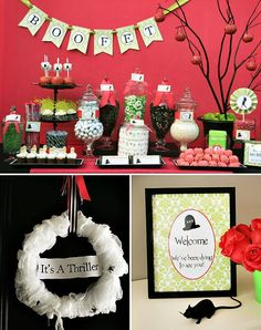 "Halloween decorations : IDEAS & INSPIRATIONS  Girly Halloween ""THRILLER"" Party // Hostess with the Mostess"
