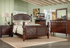 shop for a southampton 6 pc canopy king bedroom at rooms