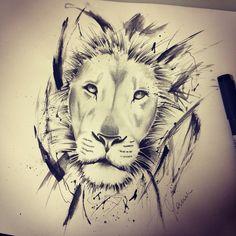 #lion #watercolortattoo #manuelitas10