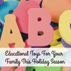 Need some ideas for educational toys to get your family and loved ones? Here is some inspiration!