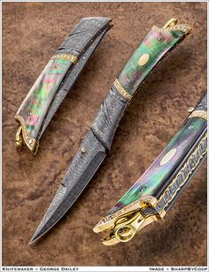 Photos - SharpByCoop's Gallery of Handmade Knives Cool Knives, Knives And Tools, Knives And Swords, Pretty Knives, Forging Knives, Tactical Knives, Knife Photography, Damascus Blade, Weapon Concept Art