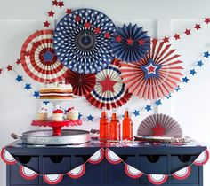 Stars and Stripes Party Pinwheels | All-American Boy 1st Birthday?