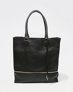 My Abercrombie & Fitch Collection: Leather Expandable Tote by Abercrombie & Fitch
