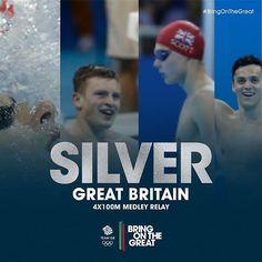 #Silver! Adam Peaty, Duncan Scott, James Guy and Chris Walker-Hebborn close out…