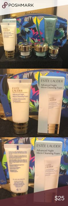 🔥🔥ESTEE LAUDER DAYWEAR SET🔥🔥 PRICE FIRM. This AWESOME DAYWEAR Set Includes Advanced Micro Cleanser 1 FL OZ (30mL) DayWear Creme .5 FL OZ (15mL) NightWear Creme .5 FL OZ (15mL) DayWear Eye creme .17 FL OZ (5mL) NightWear Plus 3minute Detox Mask Almost a full-size 1.7 FL OZ (50mL) A Beautiful Estée Lauder Cosmetic bag. All NEW & UNUSED. Thank you for shopping my closet I always give a free gift to make your package extra special.🌸🌸🌸 Estee Lauder Makeup