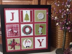 joy frame - stampin up. This would be cute for a card as well.