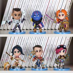 6pcs/set 10cm Generation Action Figure Toy Model Set For Collection Gift Annie Lulu Lee Sin Ezreal Sona Amumu doll juguetes hot
