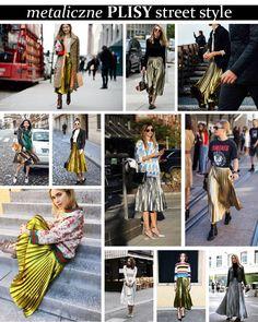 Metaliczne spódnice plisowane - pleated metallic skirt streetstyle #gucciskirt Metallic Skirt, Isabel Marant, Metallica, Zara, Street Style, Urban Style, Street Style Fashion, Street Styles, Street Fashion