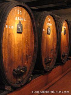 Wine Barrels in Alsace Wine road in France