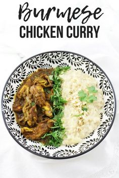 Burmese chicken curry with turmeric garlic and ginger - A Hedgehog in the Kitchen Asian Chicken Recipes, Indian Food Recipes, Asian Recipes, Ethnic Recipes, Burmese Food, Burmese Recipes, Easy Dinner Recipes, Oven Recipes, Dinner Ideas