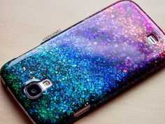DIY Glitter Phone Cover - The Polish Well