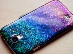 DIY Glitter Phone Cover - The Polish Well