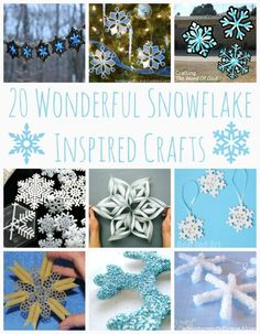 Snowflake Crafts 20 Wonderful Snowflake Crafts - I am going to try these! Love snowflake crafts as DIY Winter Decor. So very Wonderful Snowflake Crafts - I am going to try these! Love snowflake crafts as DIY Winter Decor. So very pretty! Winter Fun, Winter Theme, Winter Christmas, Winter Holidays, Christmas Holidays, Christmas Decorations, Christmas Ornaments, Christmas Ideas, Christmas Activities