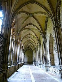 The Cathedral of Santa Maria is one of Pamplona's architectural gems. Beautiful Places In Spain, Pamplona, Santa Maria, Cathedral, Gems, Architecture, Holy Mary, Rhinestones, Cathedrals