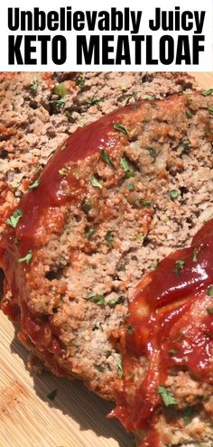 Keto Ketchup, Meat Loaf, Ketogenic Recipes, Ketogenic Diet, Atkins Recipes, Keto Dinner, No Carb Dinner Recipes, Low Carb Dinner Ideas, Easy Family Dinner Recipes