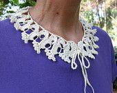 PDF Tutorial  Crochet Pattern... Lace Peter Pan Collar
