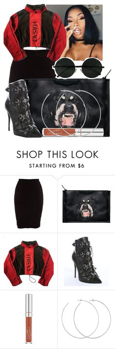 """""""Untitled #1988"""" by therealslimm ❤ liked on Polyvore featuring T By Alexander Wang, Givenchy, Versace, Giuseppe Zanotti and Allison Bryan"""