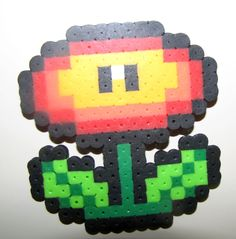 Fire Flower Perler Bead- Katie loves making these! =)