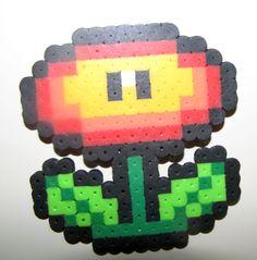 Fire Flower Perler Bead- Katie loves making these! =)