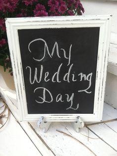 Shabby Chic Wedding Chalkboard by WhimsicalLoveBirds on Etsy, $13.95
