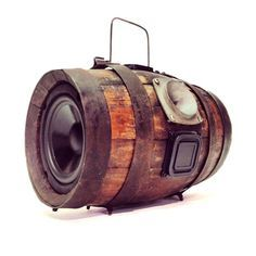 Vintage Water / Wine Barrel Turned BoomCase - BoomBox - #BoomCase #BoomBox #Audio