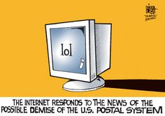 The Internet responds to the demise of the Postal Service.