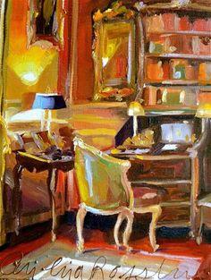 """SECRÉTARIAT"" - Original Fine Art for Sale - © Cecilia Rosslee"