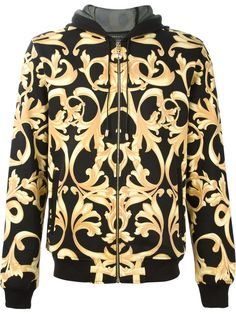 532585fec235 Versace Baroque Print Hoodie - Elite - Farfetch.com Chaussures Versace,  Foulard, Diamant