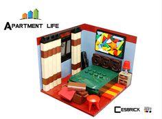 LEGO Apartment life - Bedroom #LEGO #legostagram #legomoc #legomocs #legophotography #toystagram #legobuilding #legobuilder #legonerds #legonerd #legocollection #legomasterbuilder #legobricks #toybrick #bricktoys #bricktoy #legos #moc #mocs #afol #toyphotography #afolclub #legostagram #legoroom #legohouse #legoapartment